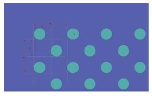 Holey pattern with triangular lattice